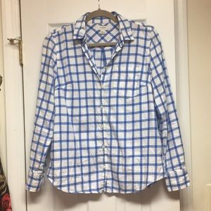 J crew classic flannel shirt size S.